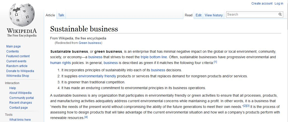 Sustainable Business Resource